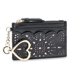 Victoria's Secret Black Card Case Key Holder